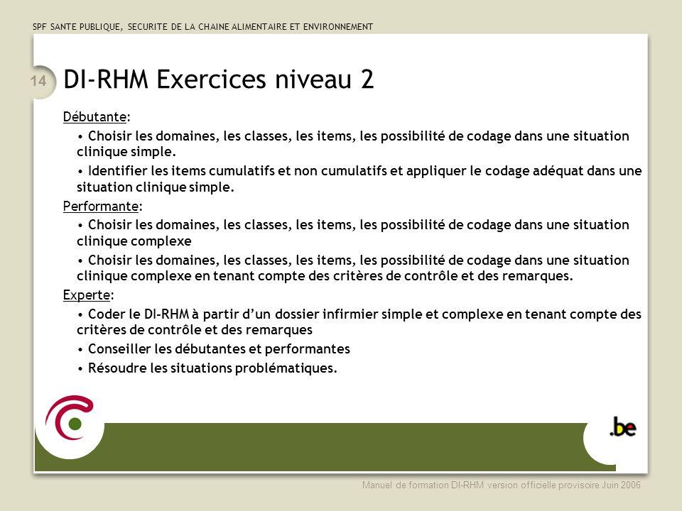 DI-RHM Exercices niveau 2