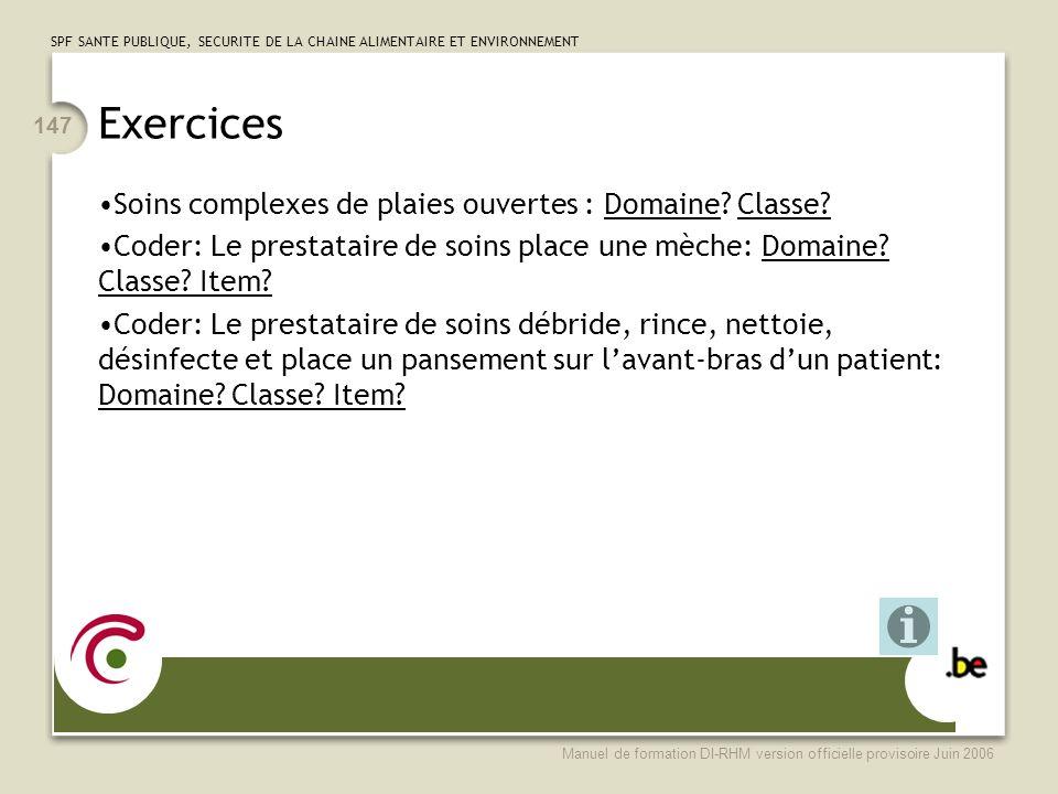 Exercices Soins complexes de plaies ouvertes : Domaine Classe