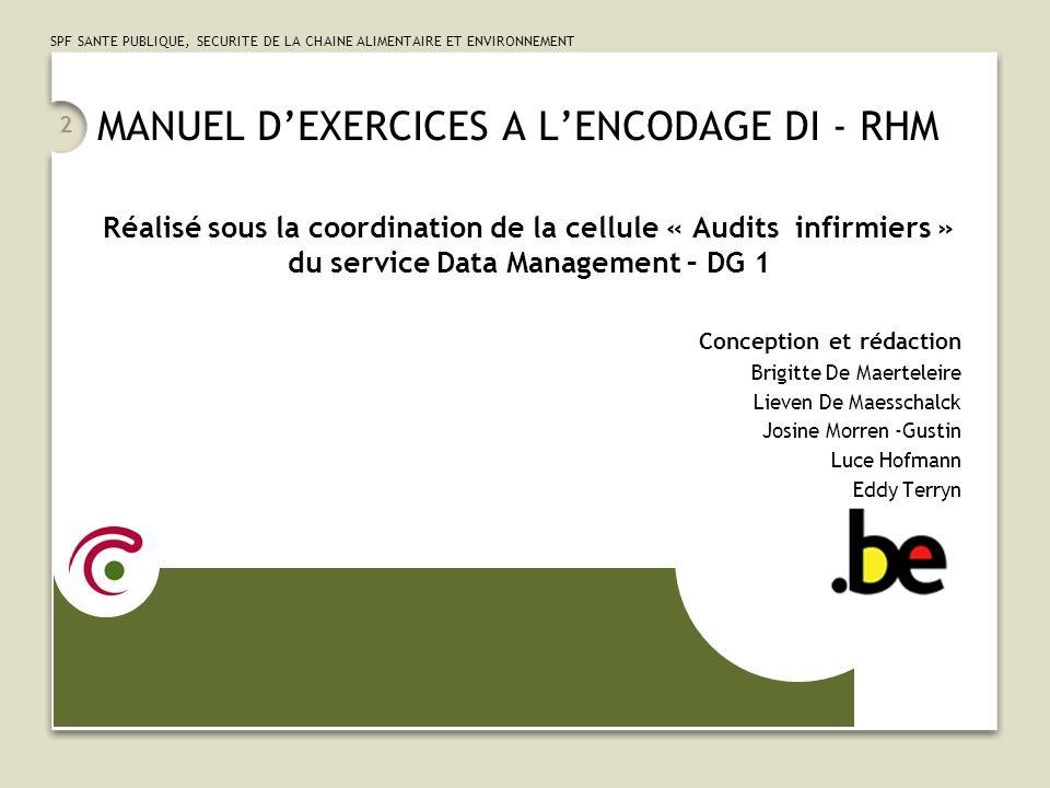 MANUEL D'EXERCICES A L'ENCODAGE DI - RHM