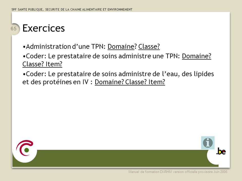 Exercices Administration d'une TPN: Domaine Classe