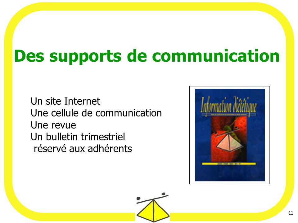 Des supports de communication