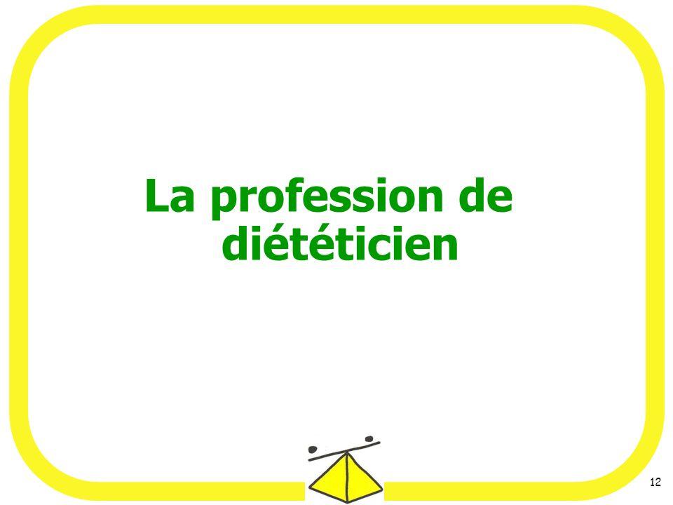 La profession de diététicien