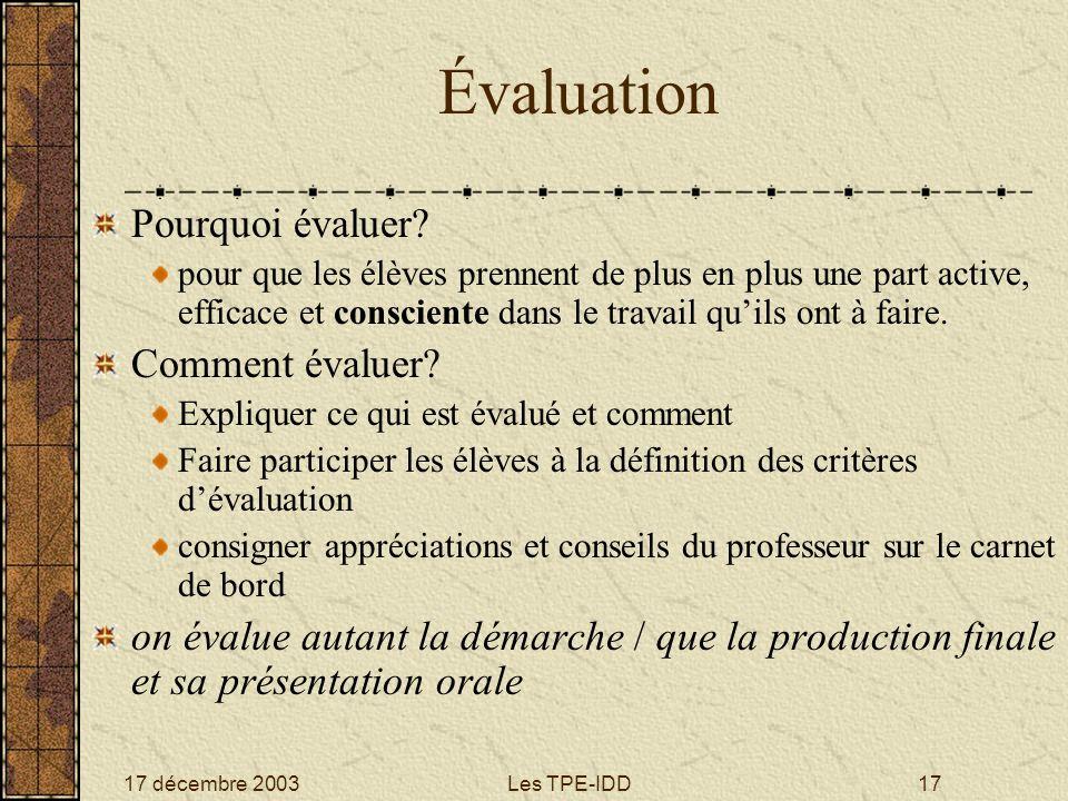 Évaluation Pourquoi évaluer Comment évaluer