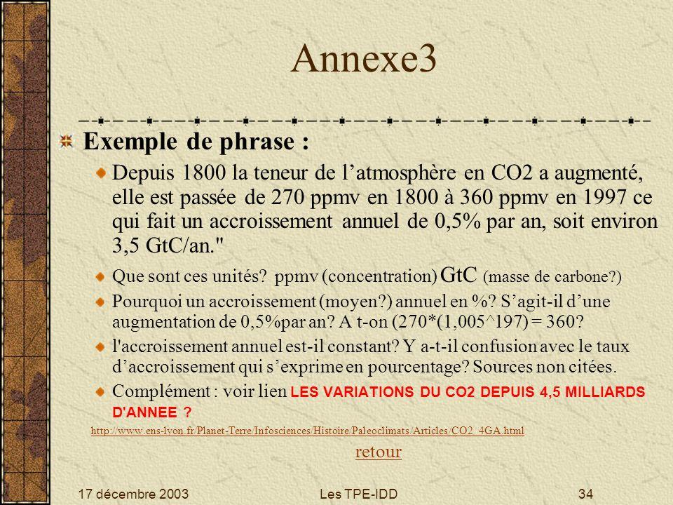 Annexe3 Exemple de phrase :