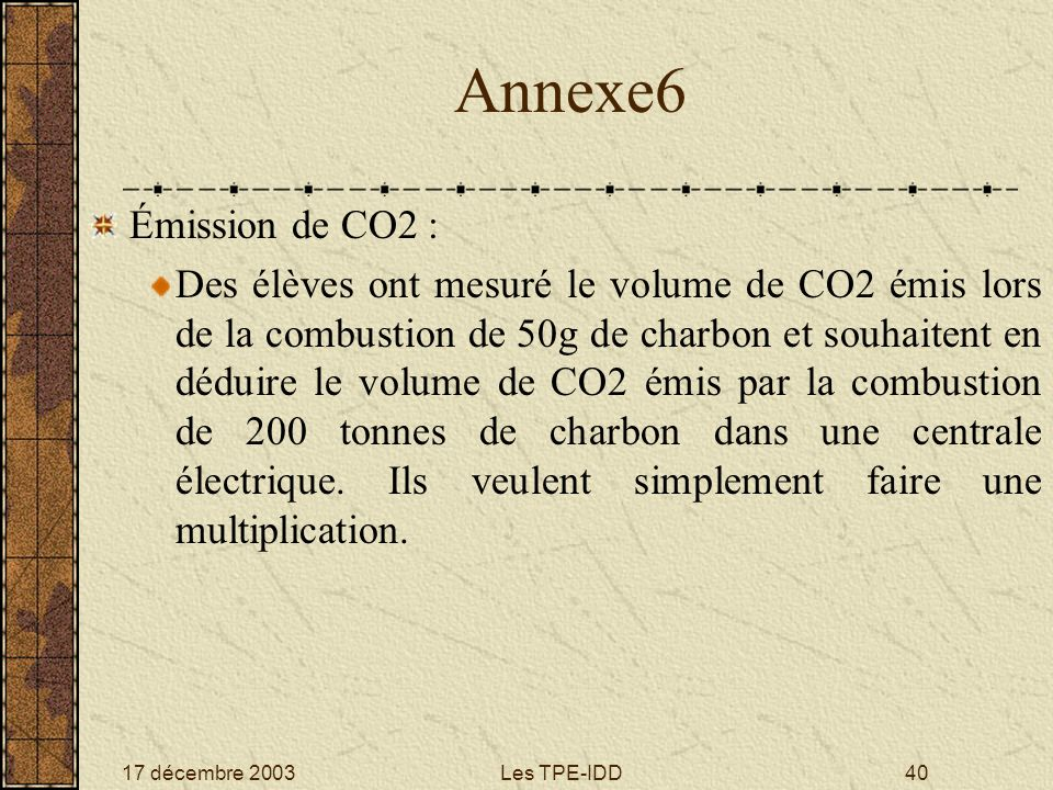 Annexe6 Émission de CO2 :