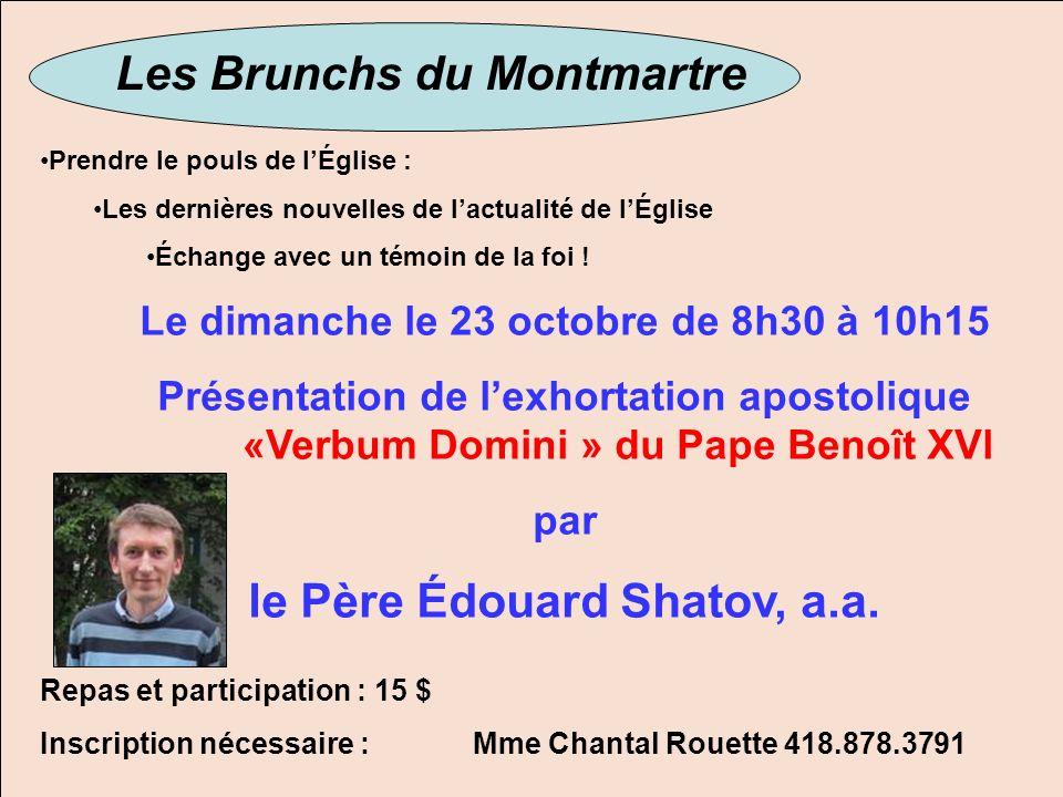 Les Brunchs du Montmartre le Père Édouard Shatov, a.a.