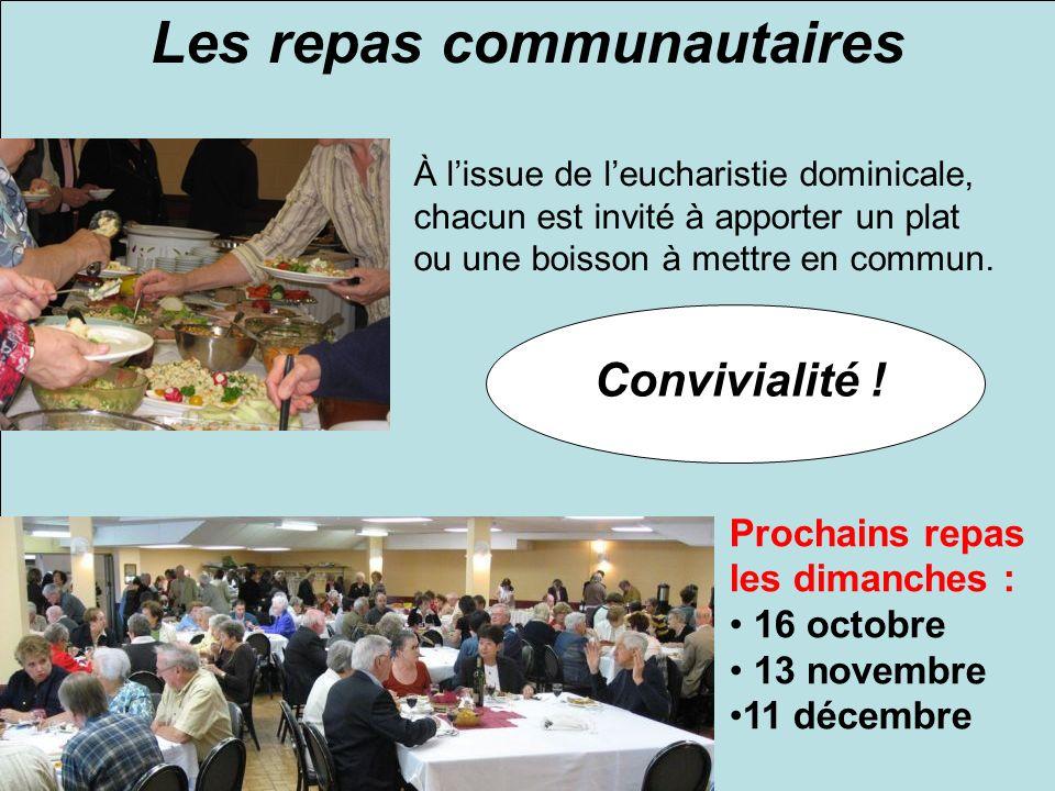 Les repas communautaires