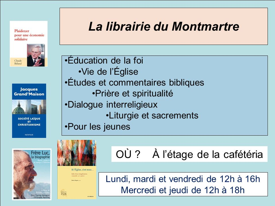 La librairie du Montmartre