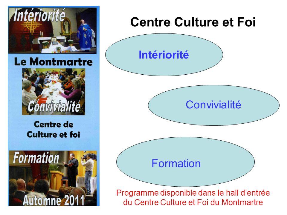 Centre Culture et Foi Intériorité Convivialité Formation