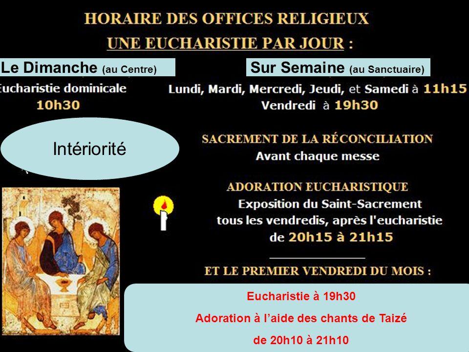 Adoration à l'aide des chants de Taizé
