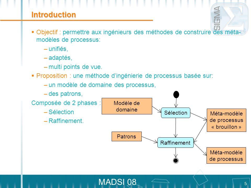Introduction Objectif : permettre aux ingénieurs des méthodes de construire des méta-modèles de processus: