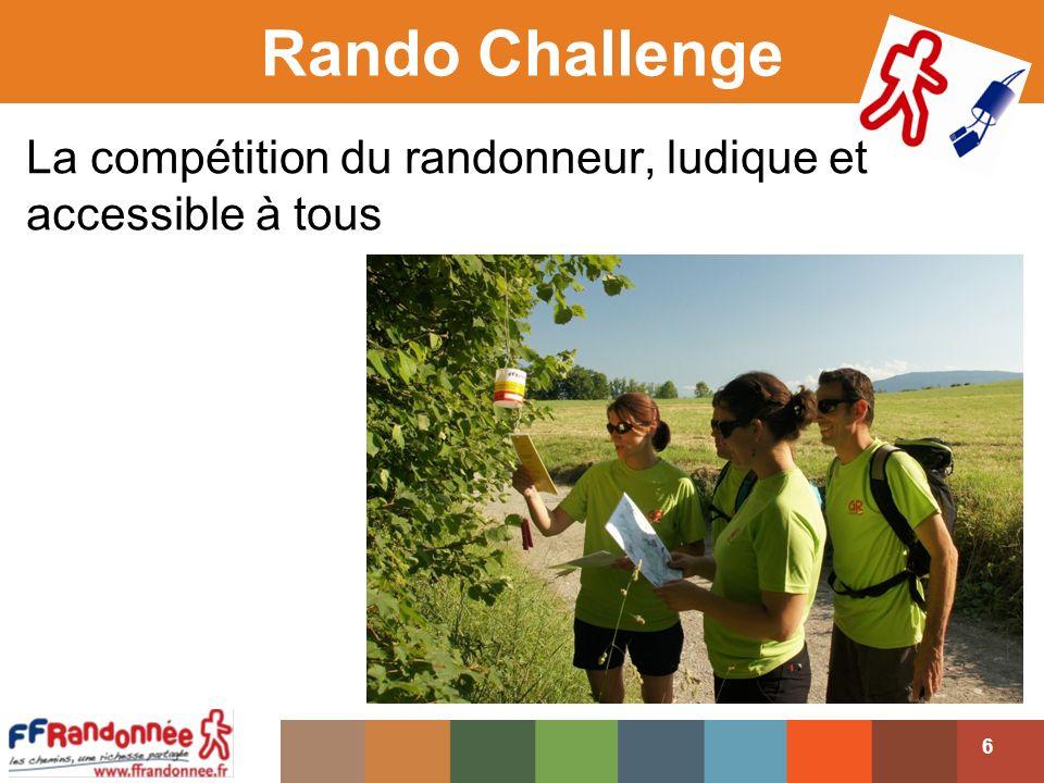 Rando Challenge La compétition du randonneur, ludique et accessible à tous.