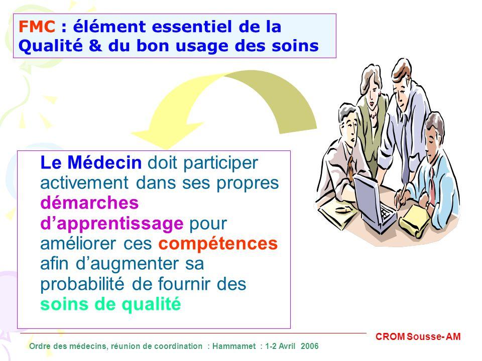 FMC : élément essentiel de la Qualité & du bon usage des soins