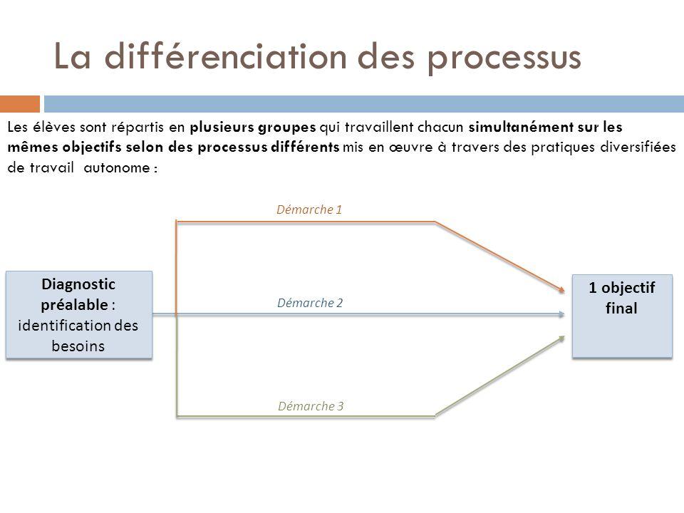 La différenciation des processus