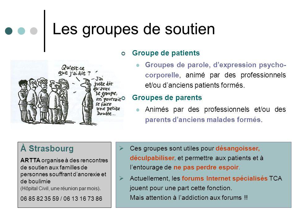 Les groupes de soutien À Strasbourg Groupe de patients