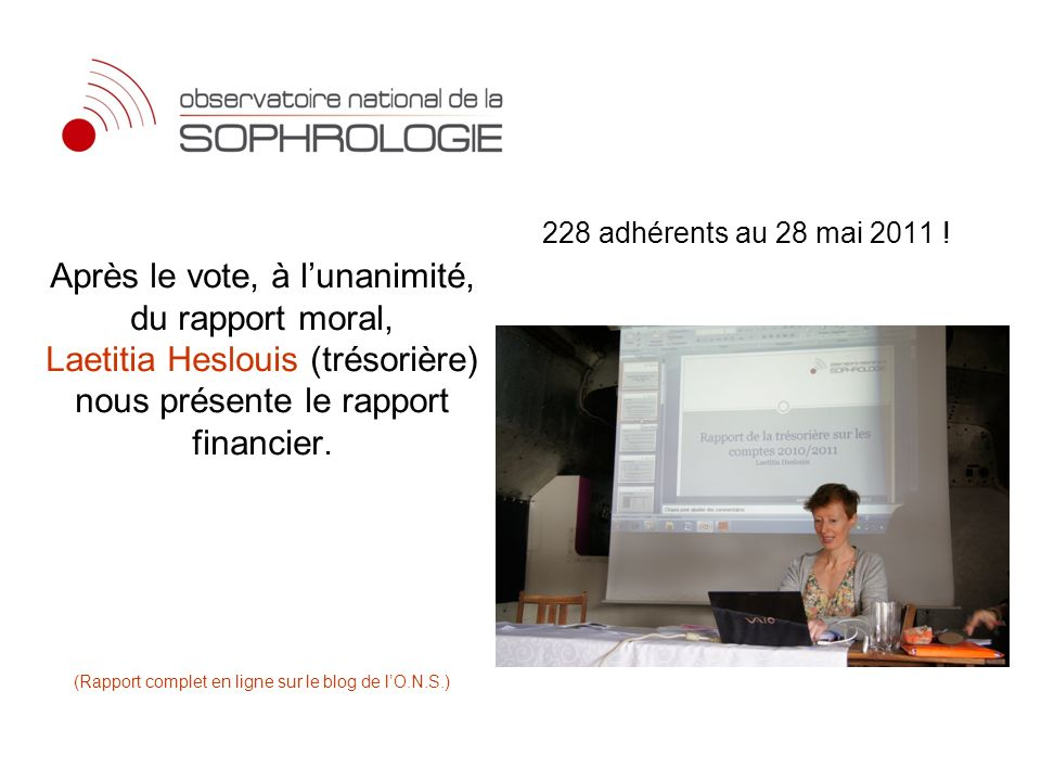 228 adhérents au 28 mai 2011 !