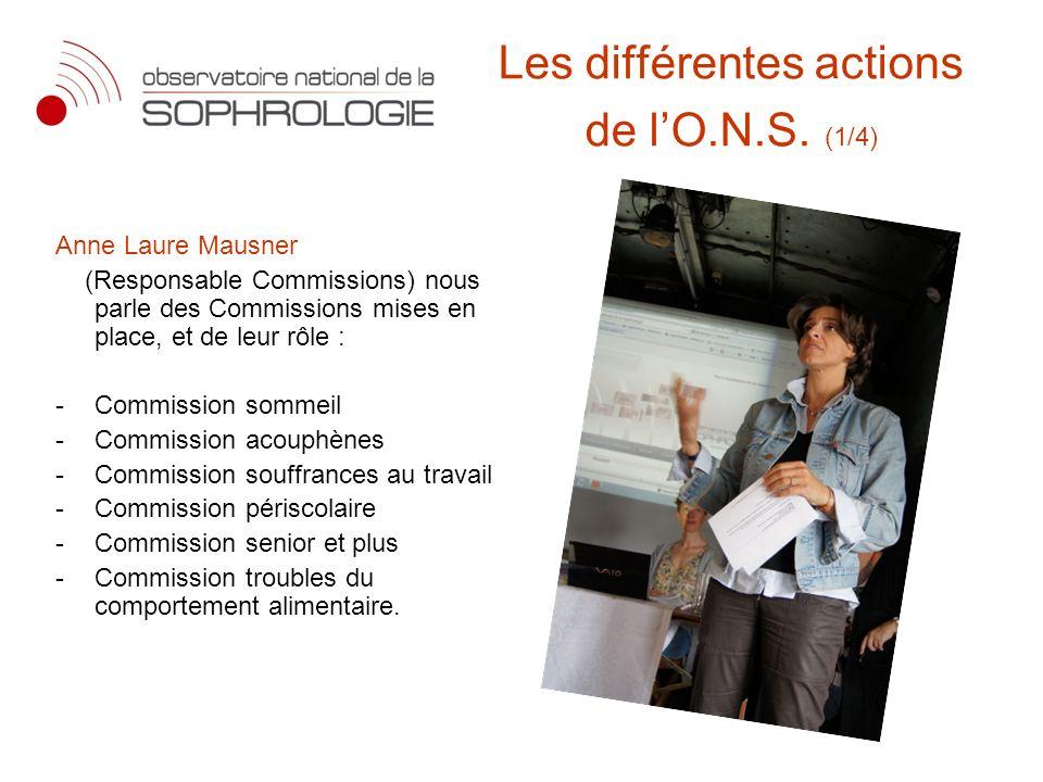Les différentes actions de l'O.N.S. (1/4)