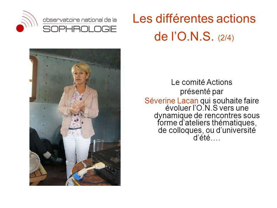 Les différentes actions de l'O.N.S. (2/4)