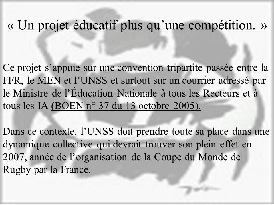 « Un projet éducatif plus qu'une compétition. »