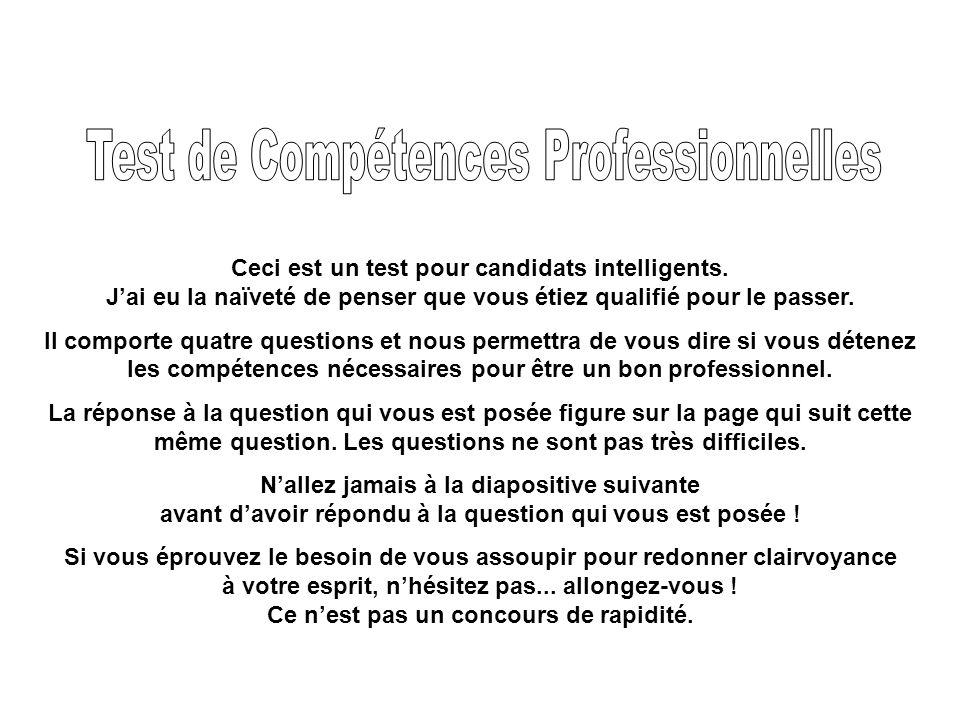 Test de Compétences Professionnelles