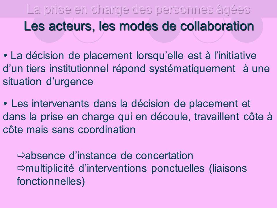 Les acteurs, les modes de collaboration