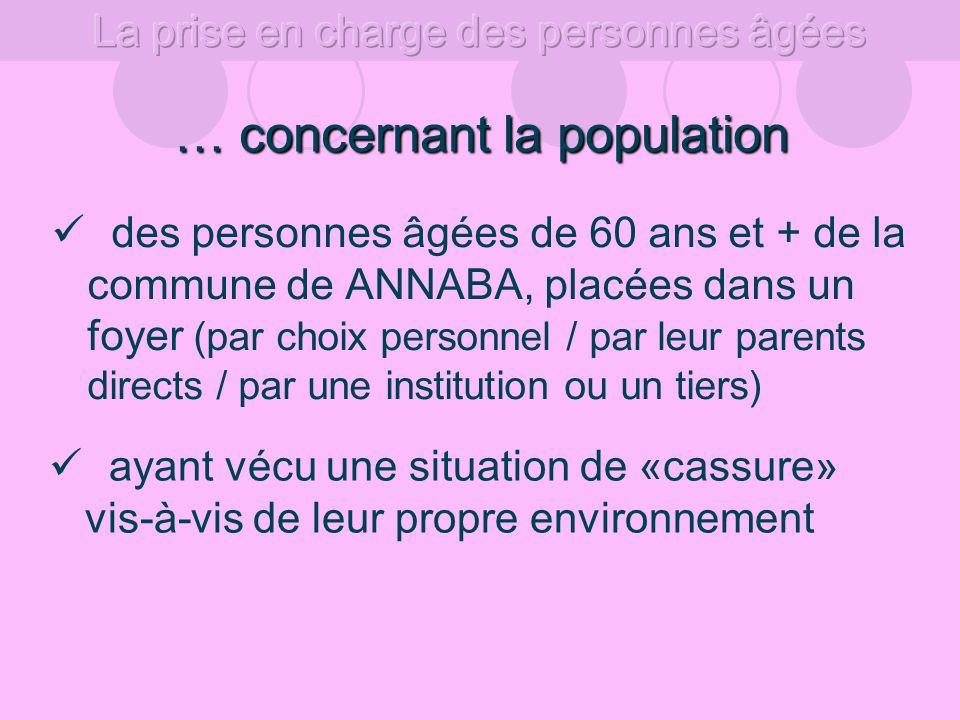 … concernant la population