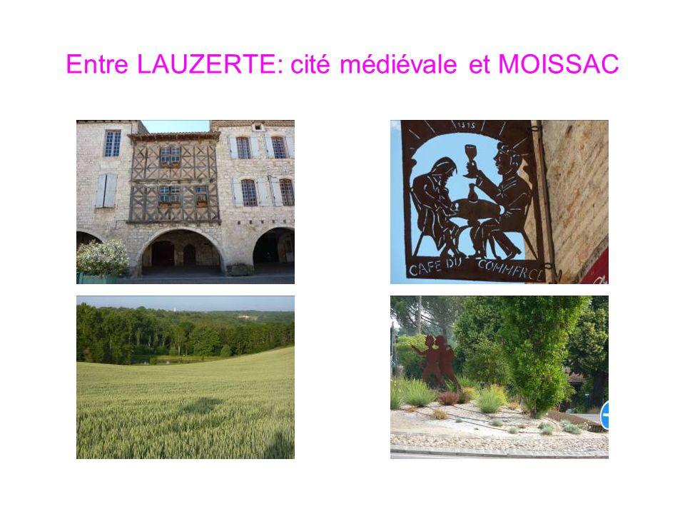 Entre LAUZERTE: cité médiévale et MOISSAC