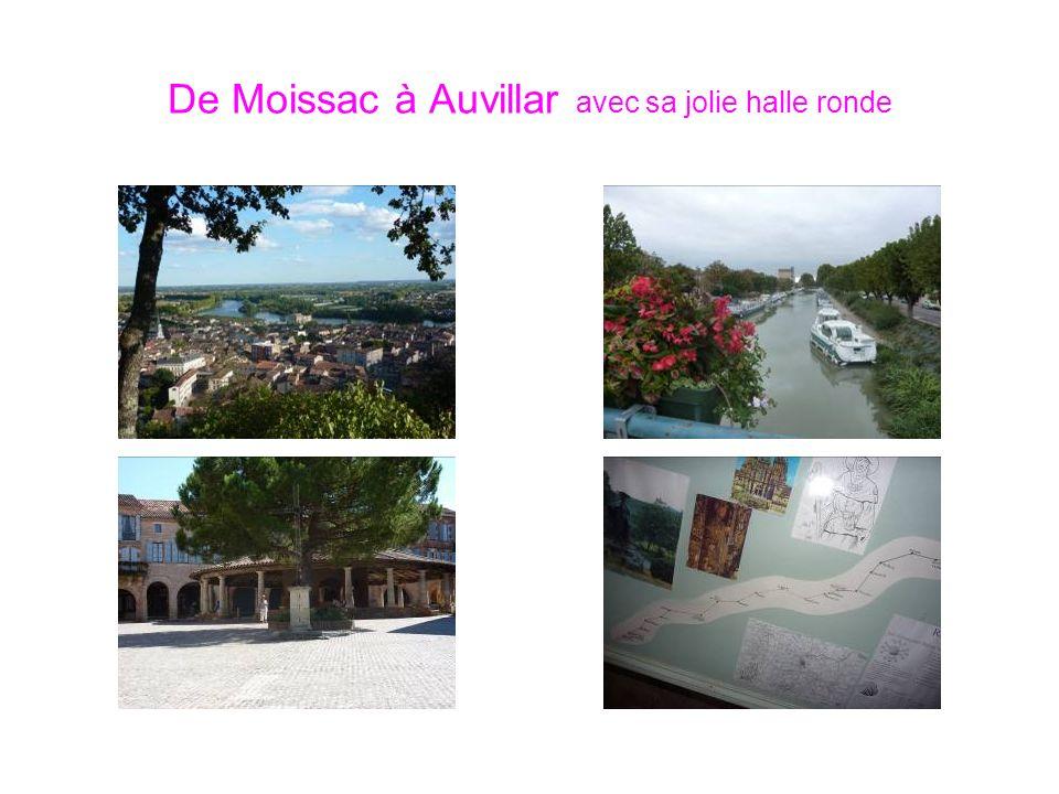 De Moissac à Auvillar avec sa jolie halle ronde