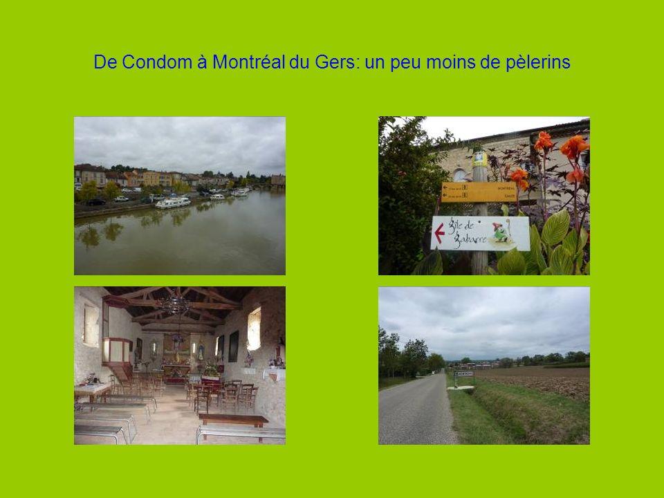 De Condom à Montréal du Gers: un peu moins de pèlerins
