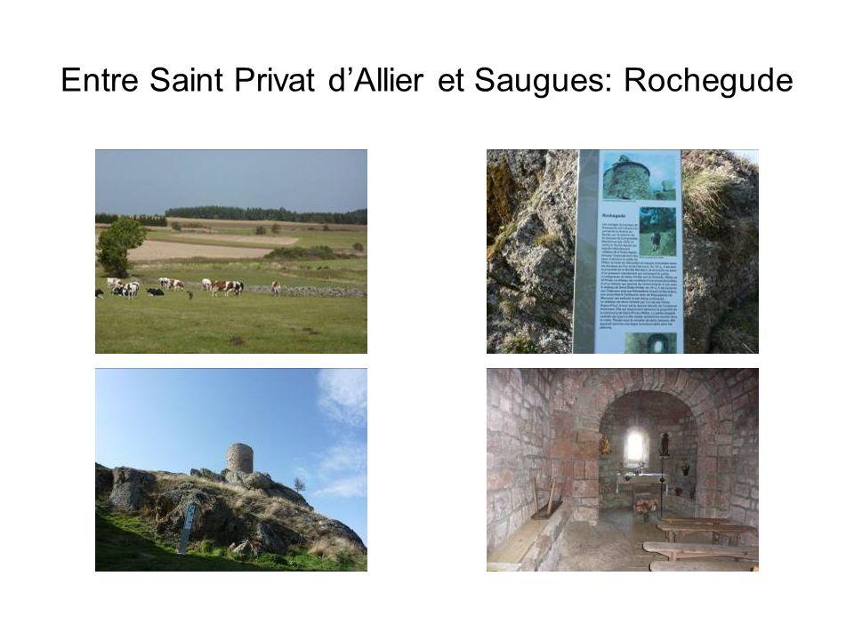 Entre Saint Privat d'Allier et Saugues: Rochegude
