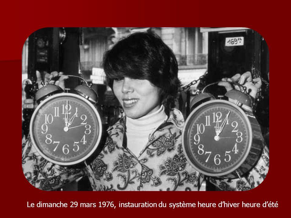 Le dimanche 29 mars 1976, instauration du système heure d'hiver heure d'été