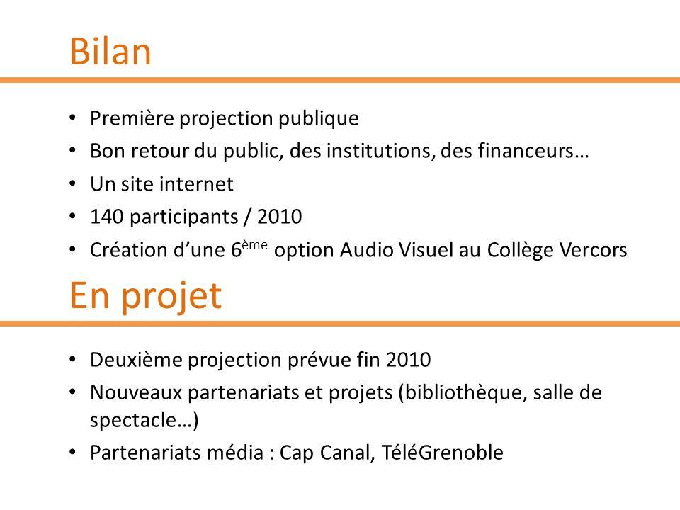 Bilan En projet Première projection publique
