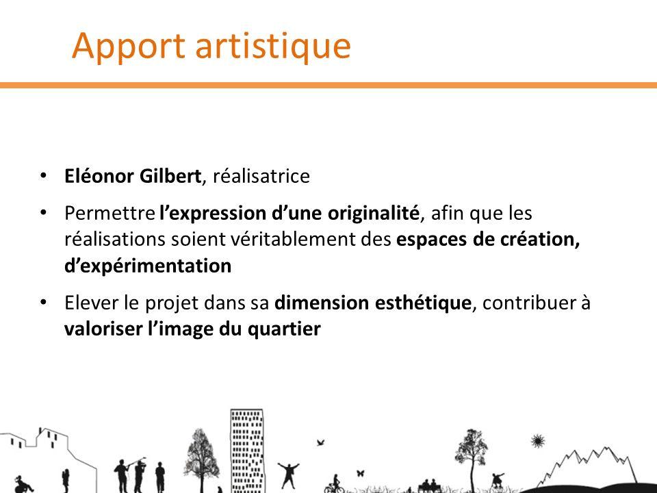 Apport artistique Eléonor Gilbert, réalisatrice