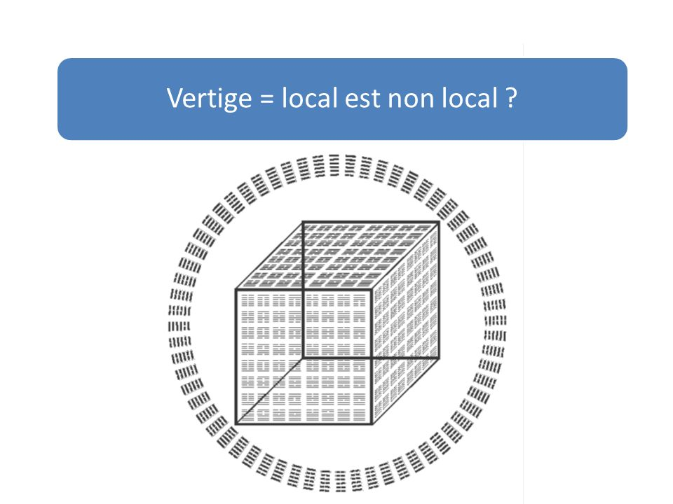 Vertige = local est non local
