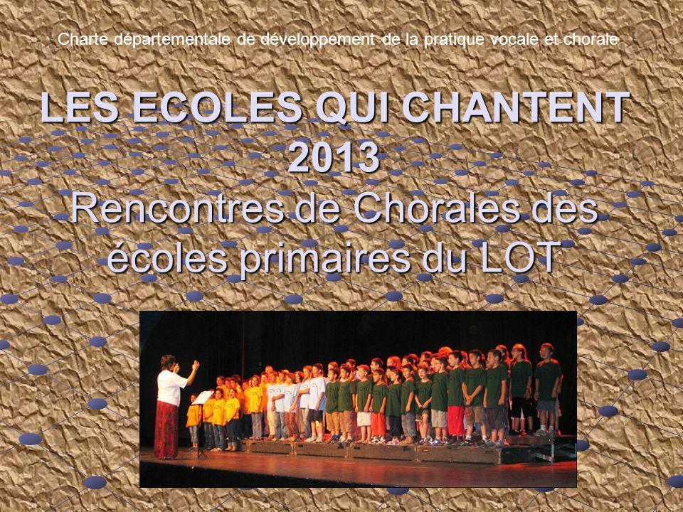 Charte départementale de développement de la pratique vocale et chorale