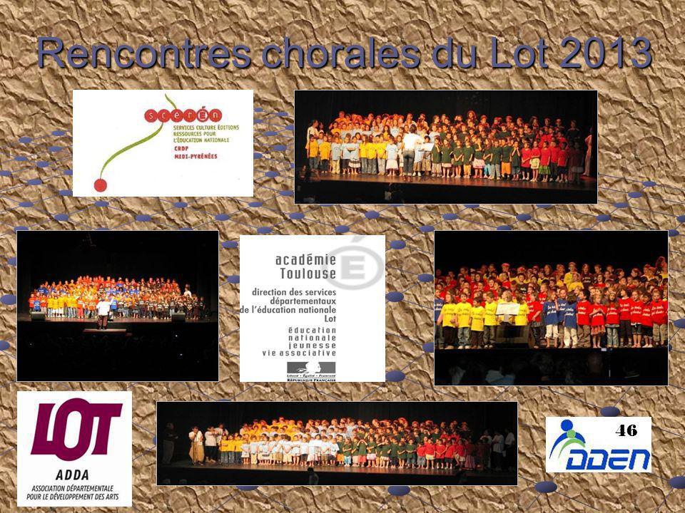 Rencontres chorales du Lot 2013