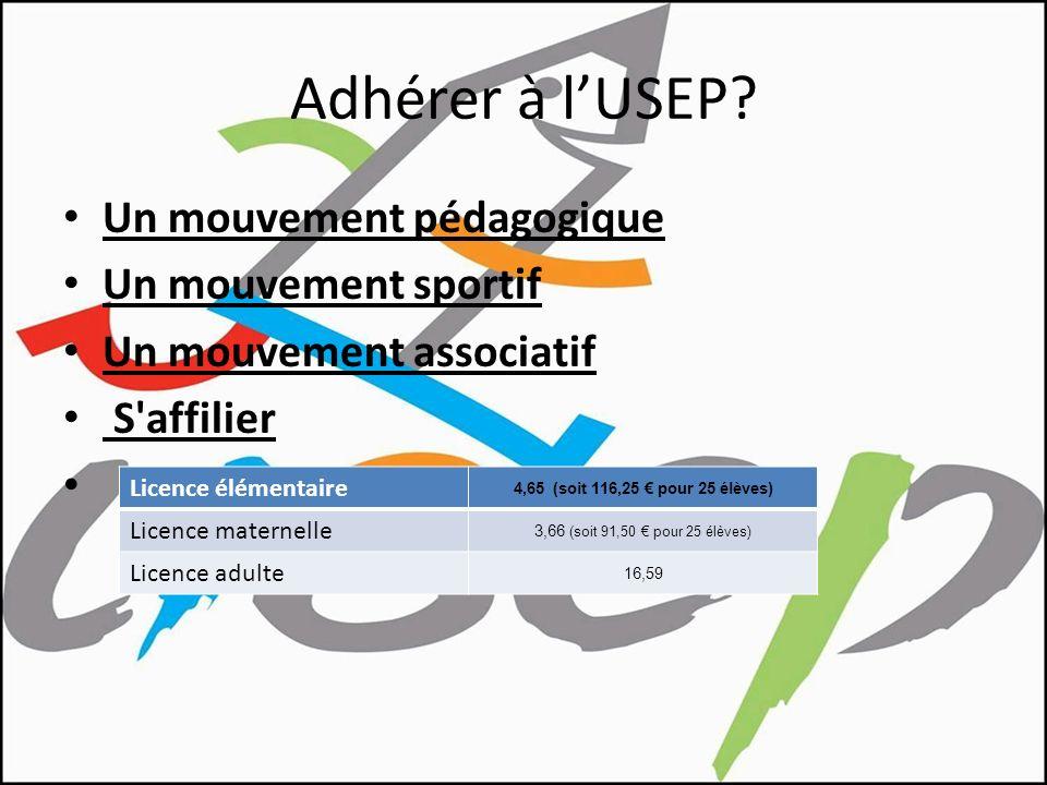Adhérer à l'USEP Un mouvement pédagogique Un mouvement sportif