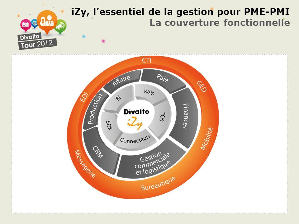 iZy, l'essentiel de la gestion pour PME-PMI La couverture fonctionnelle