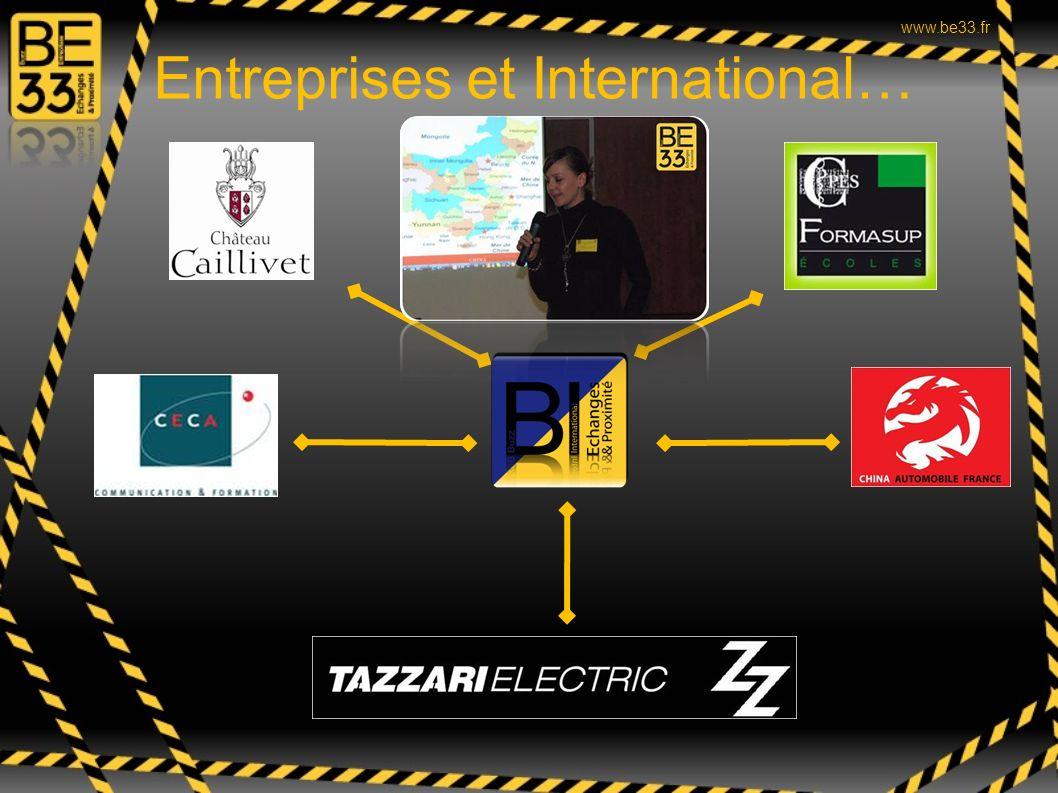 Entreprises et International…