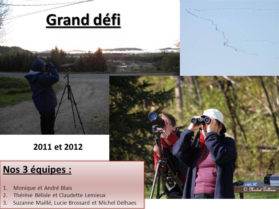 Grand défi Nos 3 équipes : 2011 et 2012 Monique et André Blais