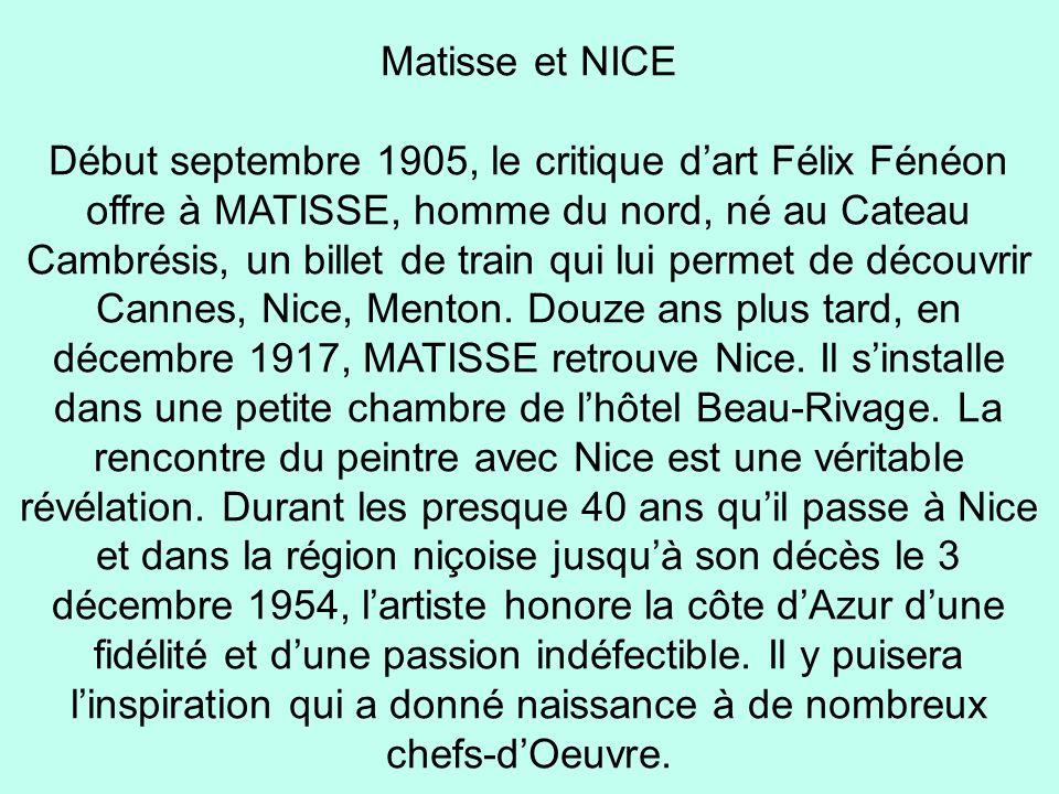 Matisse et NICE