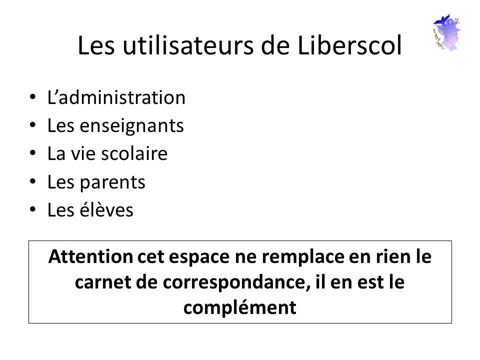 Les utilisateurs de Liberscol