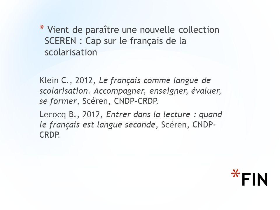 Vient de paraître une nouvelle collection SCEREN : Cap sur le français de la scolarisation