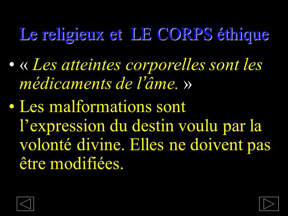 Le religieux et LE CORPS éthique