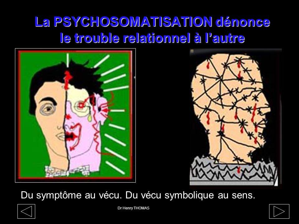 La PSYCHOSOMATISATION dénonce le trouble relationnel à l'autre