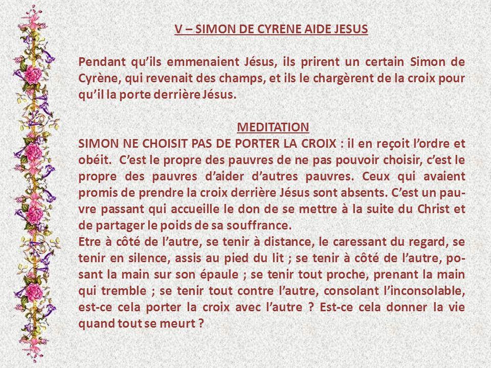 V – SIMON DE CYRENE AIDE JESUS