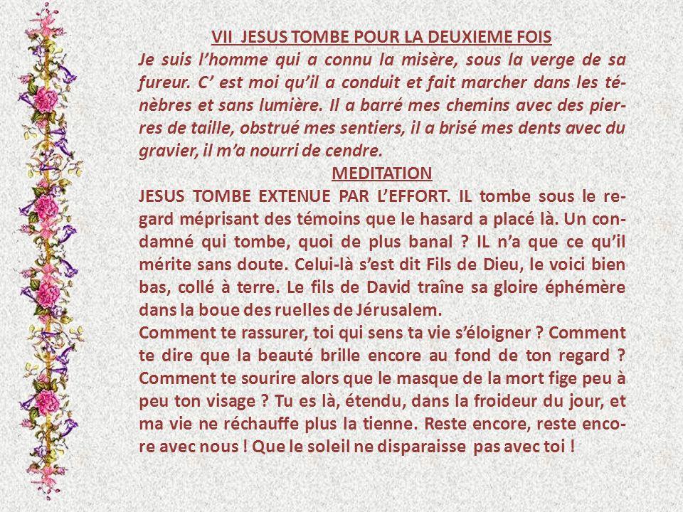 VII JESUS TOMBE POUR LA DEUXIEME FOIS