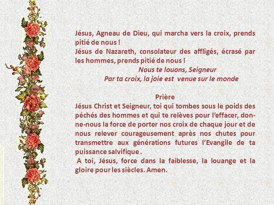 Jésus, Agneau de Dieu, qui marcha vers la croix, prends pitié de nous !