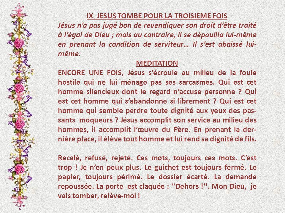 IX JESUS TOMBE POUR LA TROISIEME FOIS