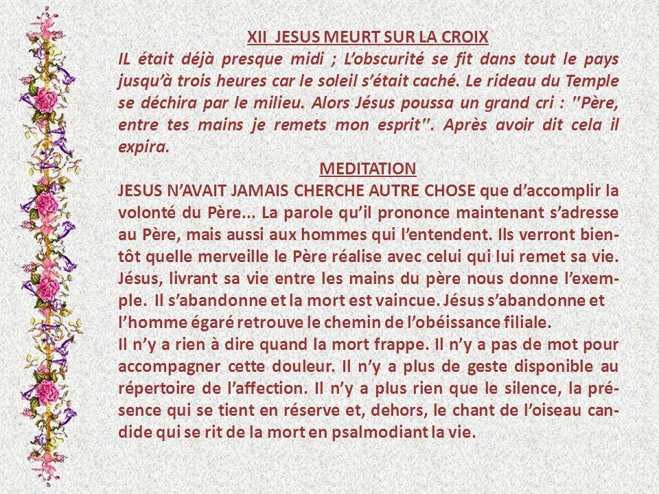 XII JESUS MEURT SUR LA CROIX